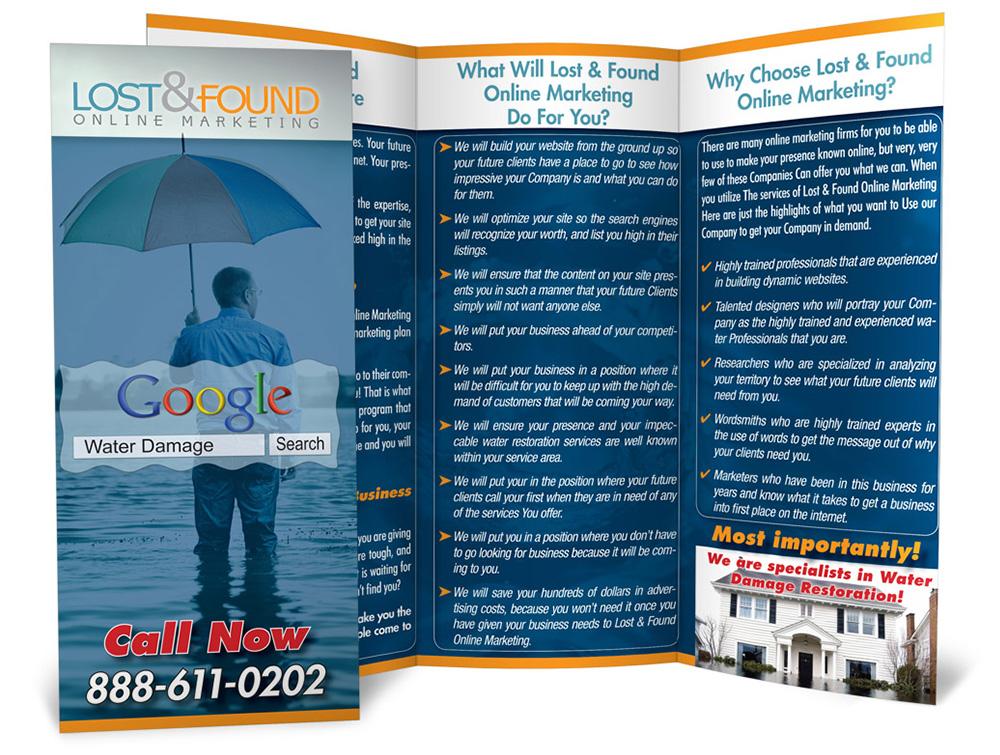 Lost & Found print brochure