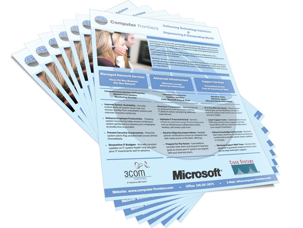 Computer Frontiers print brochure