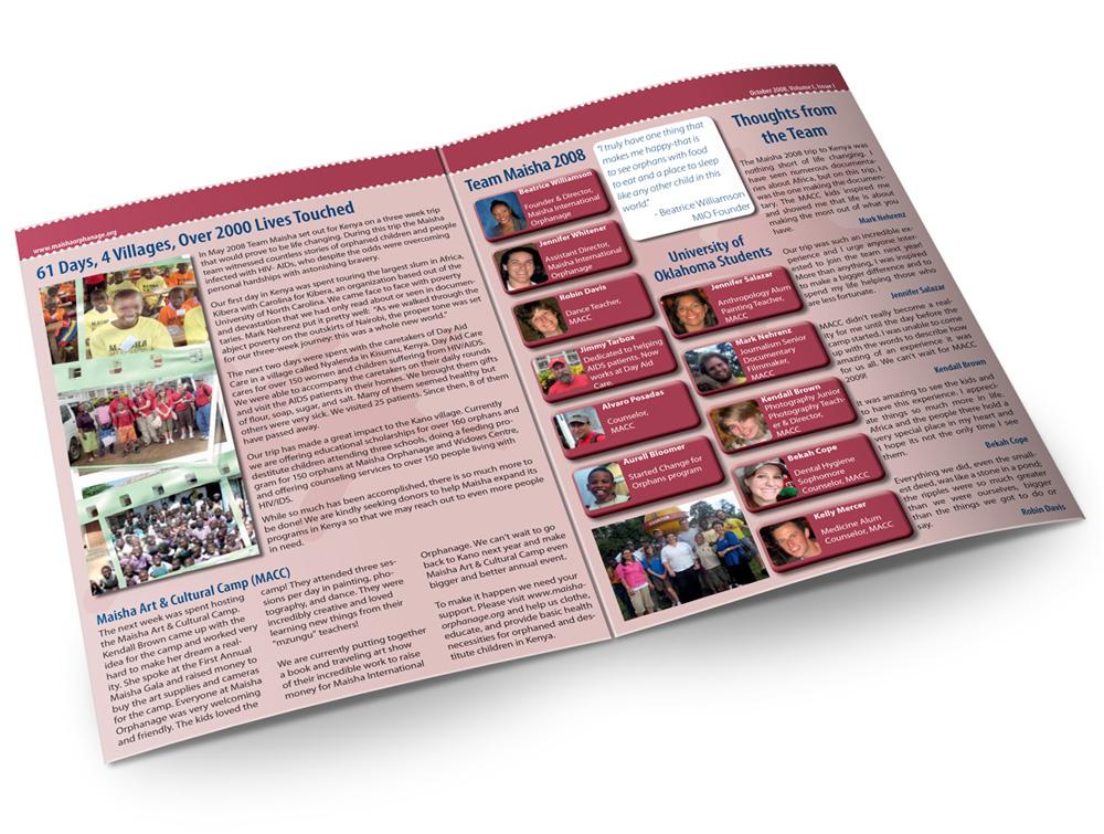 Print Newsletter Maisha Charity